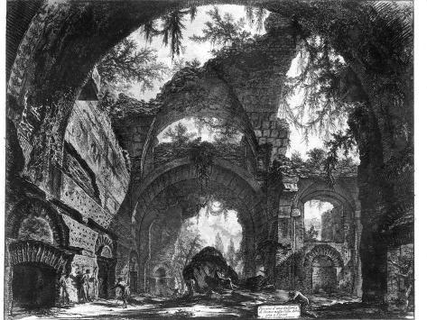 Ruined Gallery of the Villa Adriana at Tivoli Giclee Print