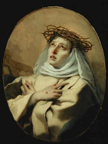 Saint Catherine of Siena, Around 1746 Giclee Print