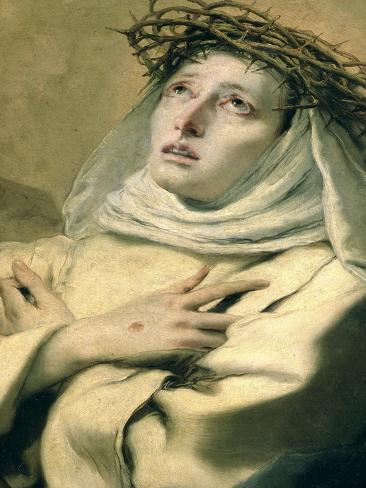 St. Catherine of Siena, circa 1746 Lámina giclée