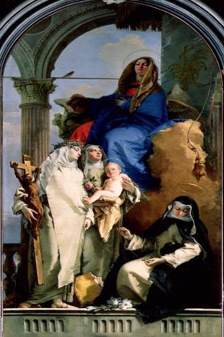 The Virgin and Three Dominican Saints, 1740 Lámina giclée
