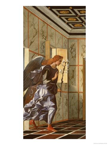 The Archangel Gabriel, from the Annunciation Diptych Lámina giclée