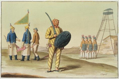 A Chinese Infantryman from 'Le Costume Ancien Et Moderne' by Giulio Ferrario, Published C.1820S-30S Giclee Print