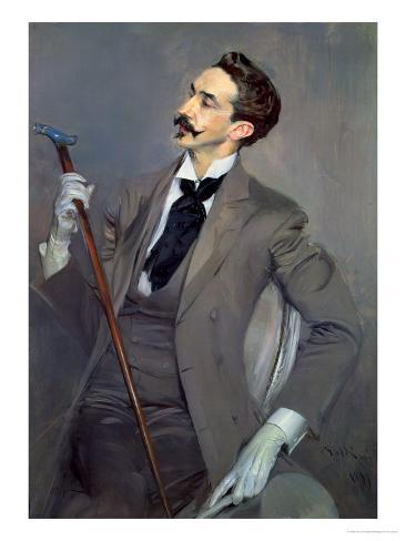 Count Robert De Montesquiou (1855-1921) 1897 Giclee Print