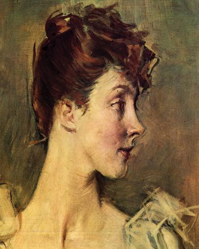 Portrait of Countess von de Leusse Stretched Canvas Print