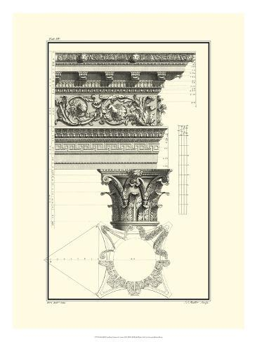 Crackled B&W Column and Cornice II Art Print