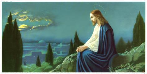 Christus am Olberg Art Print
