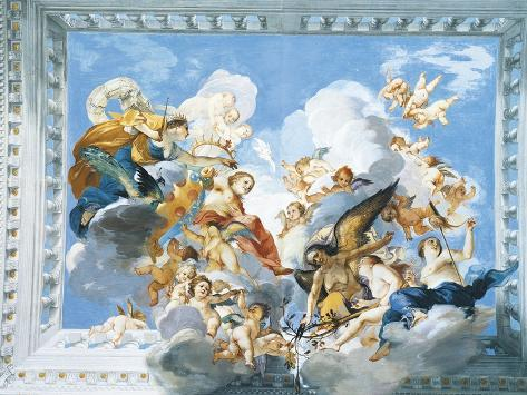 Allegories of the Marriage of Ferdinand II and Vittoria Colonna, 1635 Giclee Print