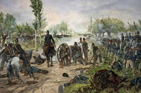 Battle of Custoza, 1880 Lámina giclée