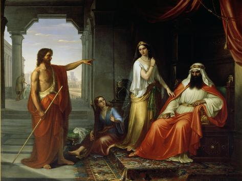 St. John the Baptist Rebuking Herod Giclee Print