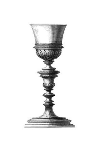 Black and White Goblet I Framed Art Print