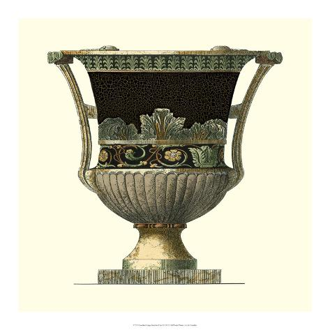 Crackled Large Giardini Urn I Giclee Print