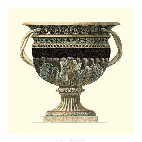 Crackled Large Giardini Urn II Giclee Print