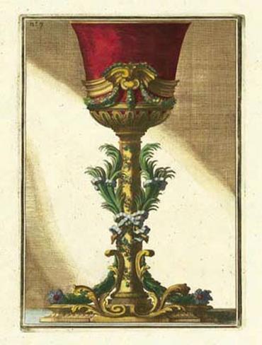 Red Goblet II Framed Art Print