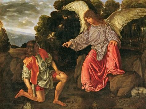 Tobias and the Angel, c.1530 Lámina giclée