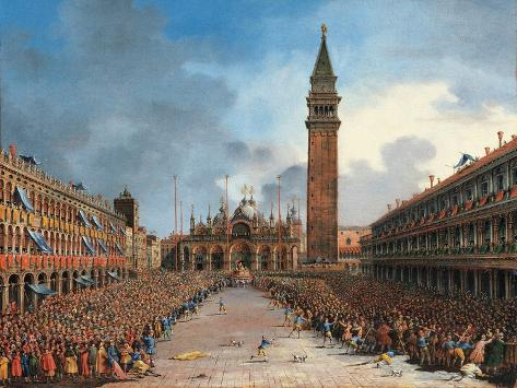 The Doge in the Pozzetto in Piazza San Marco Giclee Print