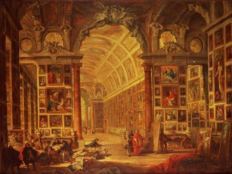 Interior View of the Colonna Gallery, Rome Giclee Print