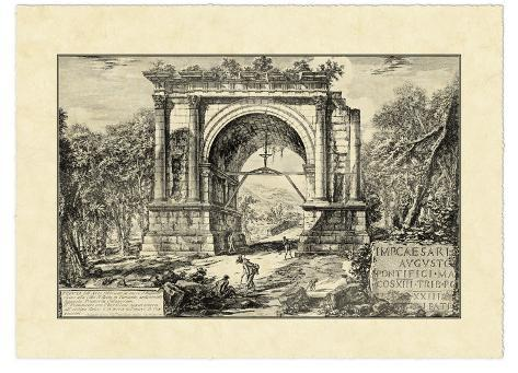 Vintage Roman Ruins II Giclee Print