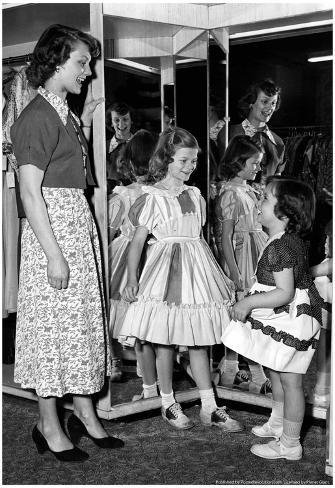 Girls in Dresses Archival Photo Poster Poster