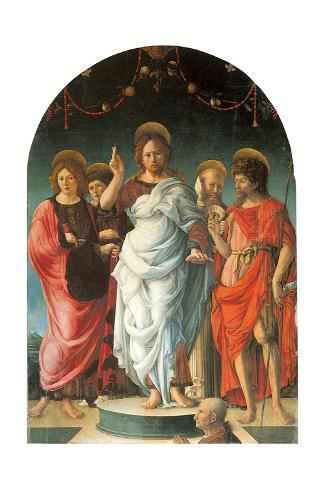 Salvator Mundi and Saints Lámina giclée