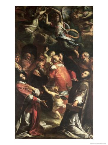 Circumcision of Christ with St. Ignatius of Loyola and St. Francis Xavier Lámina giclée