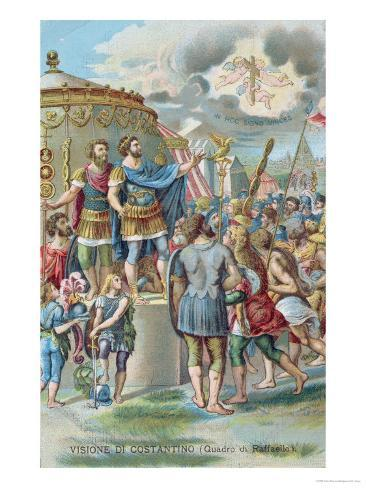 Constantine's Vision of the Cross, After the Fresco in the Sala Di Costantino, Raphael Rooms Giclee Print