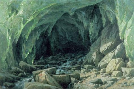 The Ice Cave of the Brenva Giclee Print
