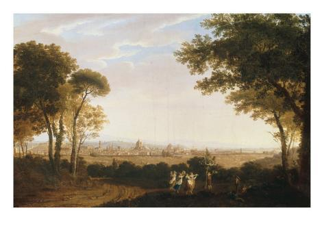 A View of Florence, 1824 Stretched Canvas Print