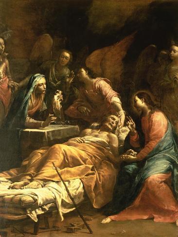 The Death of St. Joseph, C.1712 Lámina giclée
