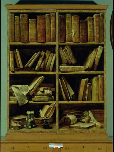 Trompe L'Oeil of a Bookcase, 1710-20 Lámina giclée