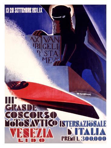 3rd Concorso Motonautico di Venezia Giclee Print