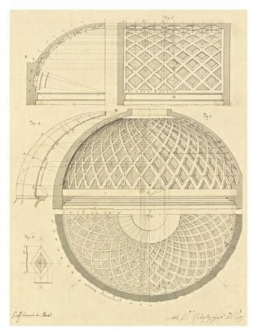 Plate 43 for Elements of Civil Architecture, ca. 1818-1850 Art Print
