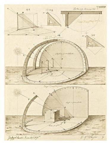Plate 47 for Elements of Civil Architecture, ca. 1818-1850 Art Print