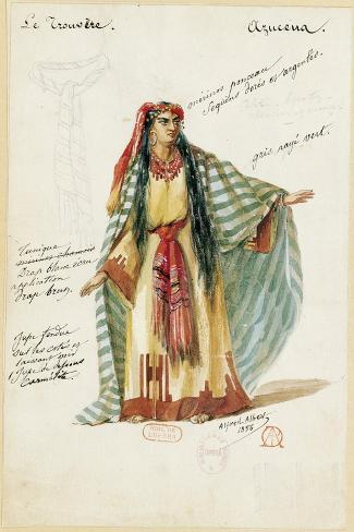 France, Paris, Costume Sketch for Azucena in the Troubadour Giclee Print