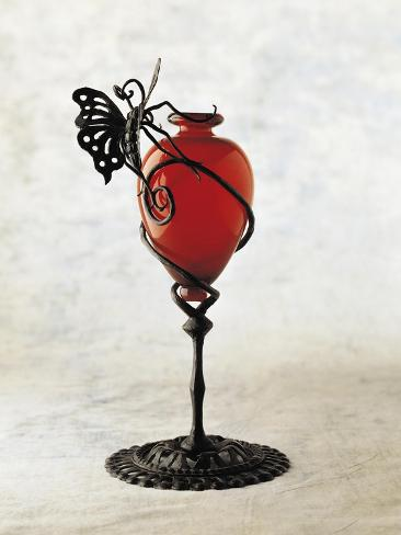 Glass Vase Ruby Supported By Spiraled Motif 1920 1929 Giclee Print