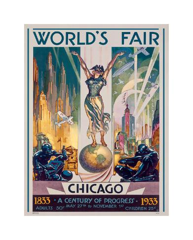 Chicago World's Fair, 1933 Giclee Print