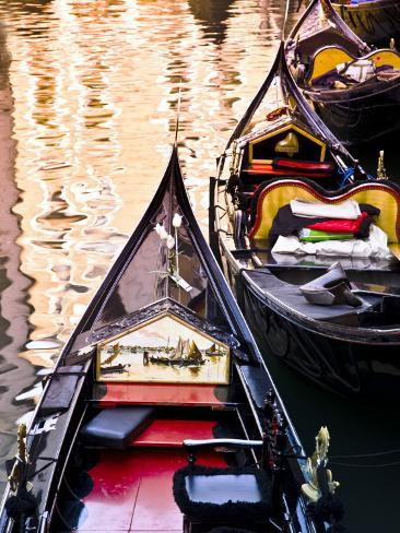 Gondolas on Canal in San Marco Photographic Print