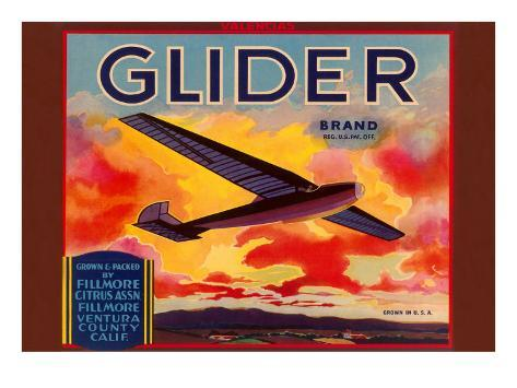 Glider Orange Crate Label Taidevedos