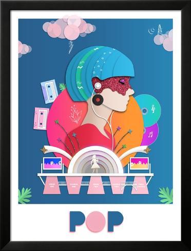 Glitzy Pop Lamina Framed Poster
