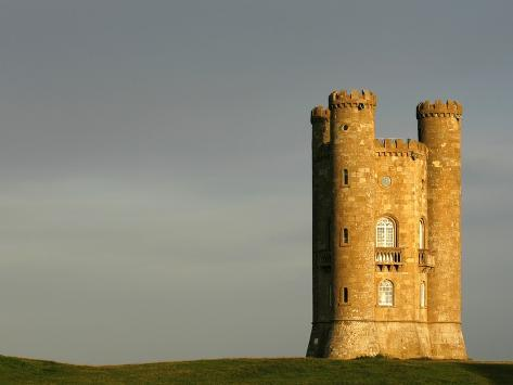 Broadway Tower standing prominently in the Cotswolds Photographic Print