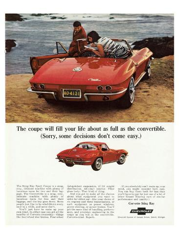 GM Corvette Some Decisions… Stampa artistica