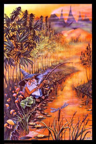 Gnome Fishing Poster