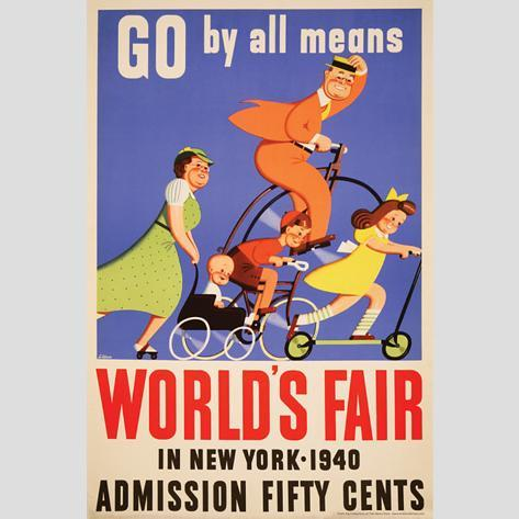 Go By All Means: World's Fair in New York Wall Decal