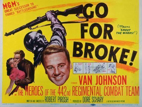 Go for Broke, 1951 Art Print