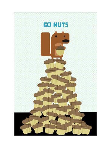 Go Nuts Art Print