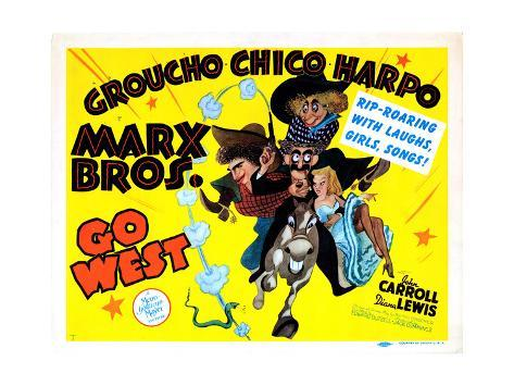 Go West, Chico Marx, Groucho Marx, Harpo Marx [The Marx Brothers], 1940 Giclee Print