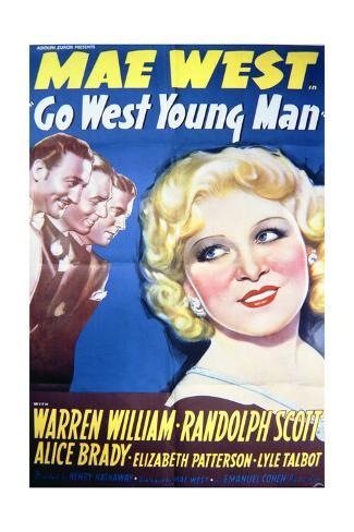 Go West Young Man - Movie Poster Reproduction Art Print