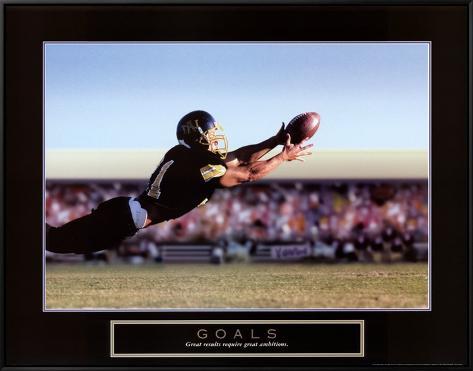 Goals: Football Action Framed Canvas Print