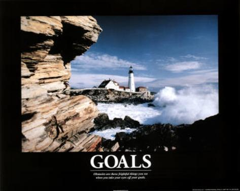 Goals (Lighthouse) Art Poster Print Mini Poster
