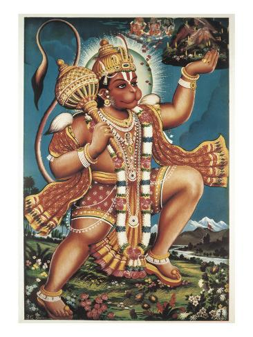 God Hanuman Art Print