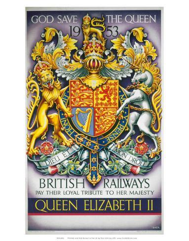 God Save the Queen, BR, c.1953 Art Print